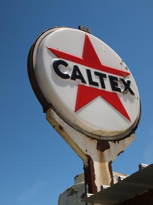Old Caltex Sign