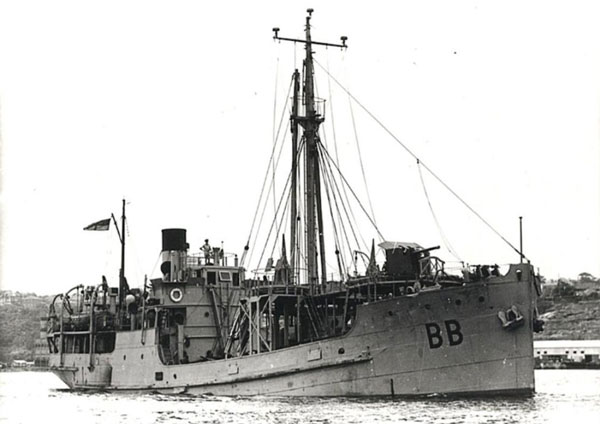 HMAS Bombo at sea during World War II
